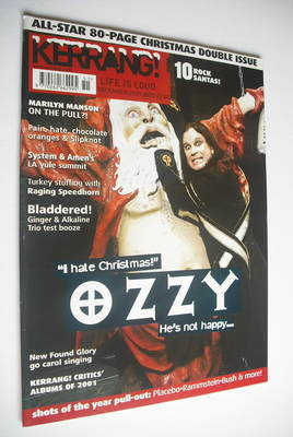 <!--2001-12-22-->Kerrang magazine - Ozzy Osbourne cover (22-29 December 200