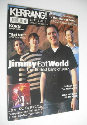 <!--2002-01-19-->Kerrang magazine - Jimmy Eat World cover (19 January 2002