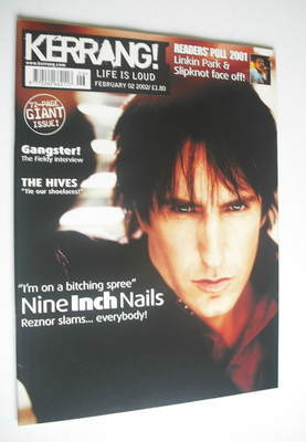 <!--2002-02-02-->Kerrang magazine - Nine Inch Nails cover (2 February 2002
