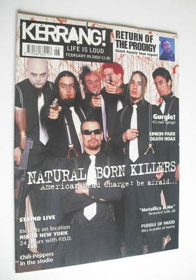 <!--2002-02-09-->Kerrang magazine - Natural Born Killers cover (9 February