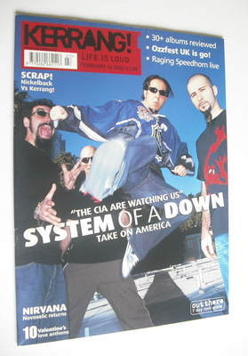 <!--2002-02-16-->Kerrang magazine - System Of A Down cover (16 February 200