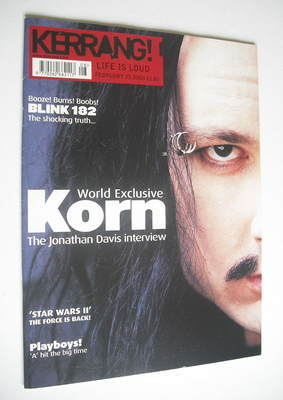 <!--2002-02-23-->Kerrang magazine - Jonathan Davis cover (23 February 2002