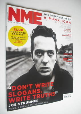 <!--2012-08-11-->NME magazine - Joe Strummer cover (11 August 2012)