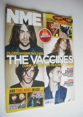 <!--2012-08-25-->NME magazine - The Vaccines cover (25 August 2012)