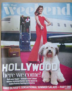 <!--2012-06-16-->Weekend magazine - Ashleigh Butler and Pudsey cover (16 June 2012)