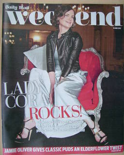 Weekend magazine - Elizabeth McGovern cover (9 June 2012)