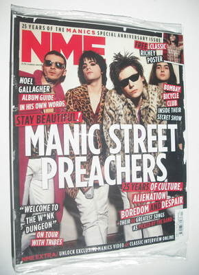 <!--2011-10-08-->NME magazine - Manic Street Preachers cover (8 October 201