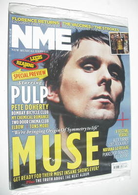 <!--2011-08-27-->NME magazine - Matt Bellamy cover (27 August 2011)
