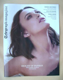 <!--2012-09-01-->Telegraph magazine - Keira Knightley cover (1 September 20