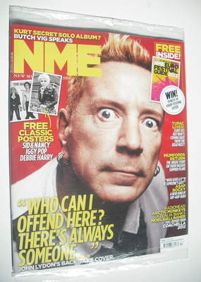 <!--2012-04-28-->NME magazine - John Lydon cover (28 April 2012)