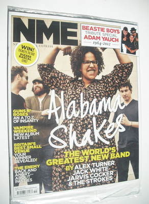 <!--2012-05-12-->NME magazine - Alabama Shakes cover (12 May 2012)