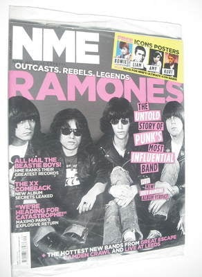 <!--2012-05-19-->NME magazine - Ramones cover (19 May 2012)