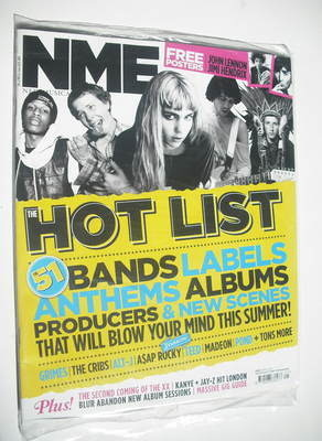 <!--2012-05-26-->NME magazine - The Hot List cover (26 May 2012)