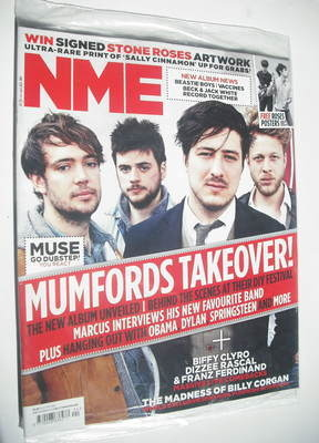<!--2012-06-16-->NME magazine - Mumford & Sons cover (16 June 2012)