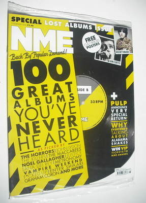 <!--2012-02-11-->NME magazine - 100 Great Albums You've Never Heard cover (