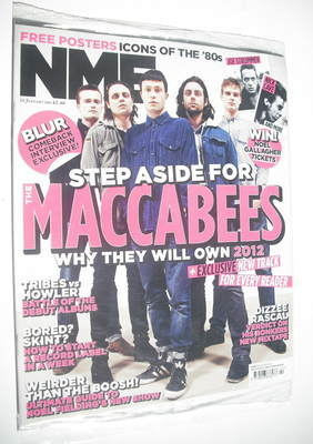 <!--2012-01-14-->NME magazine - Maccabees cover (14 January 2012)