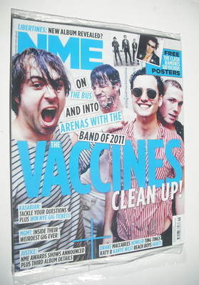 <!--2011-11-19-->NME magazine - The Vaccines cover (19 November 2011)