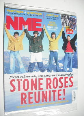 <!--2011-10-22-->NME magazine - The Stone Roses cover (22 October 2011)