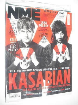 <!--2011-09-24-->NME magazine - Kasabian cover (24 September 2011)