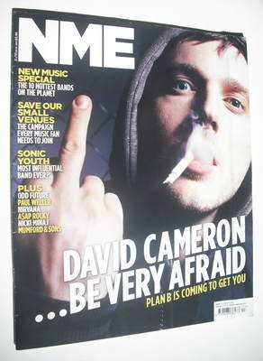 <!--2012-03-31-->NME magazine - Plan B cover (31 March 2012)