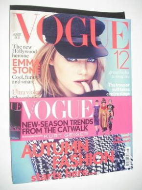 <!--2012-08-->British Vogue magazine - August 2012 - Emma Stone cover