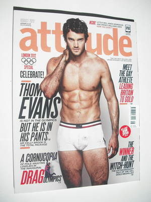 <!--2012-08-->Attitude magazine - Thom Evans cover (August 2012 - Issue 221