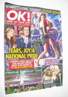 <!--2012-08-21-->OK! magazine - Olympics Closing Ceremony cover (21 August 2012 - Issue 841)