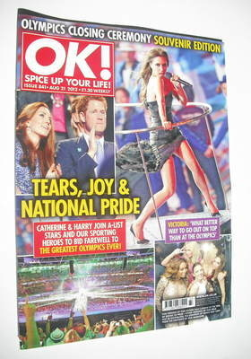 <!--2012-08-21-->OK! magazine - Olympics Closing Ceremony cover (21 August