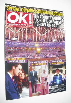 <!--2012-08-07-->OK! magazine - Olympics Souvenir cover (7 August 2012 - Is