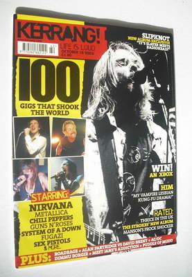 <!--2003-10-18-->Kerrang magazine - Kurt Cobain cover (18 October 2003 - Is