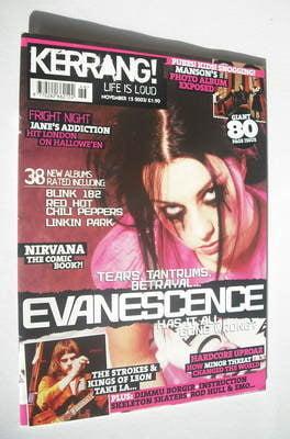 <!--2003-11-15-->Kerrang magazine - Evanescence cover (15 November 2003 - I