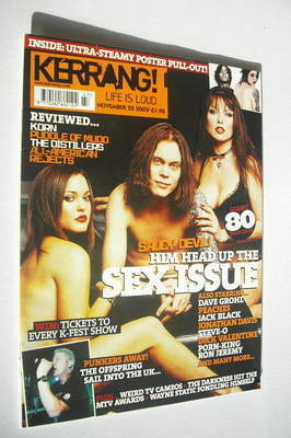 <!--2003-11-22-->Kerrang magazine - HIM Ville Valo cover (22 November 2003