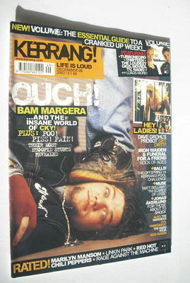 <!--2003-12-06-->Kerrang magazine - Bam Margera cover (6 December 2003 - Is