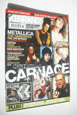 <!--2003-12-20-->Kerrang magazine - Christmas Carnage cover (20-27 December