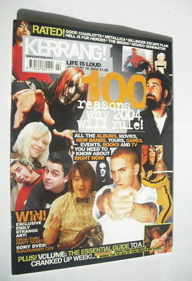 <!--2004-01-10-->Kerrang magazine - 100 Reasons Why 2004 Will Rule cover (1