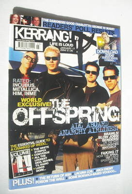 <!--2004-01-17-->Kerrang magazine - The Offspring cover (17 January 2004 -