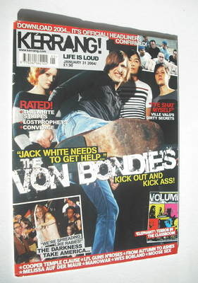 <!--2004-01-31-->Kerrang magazine - The Von Bondies cover (31 January 2004