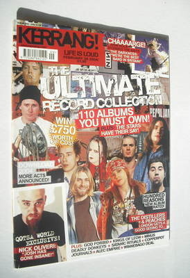 <!--2004-02-28-->Kerrang magazine - 110 Albums You Must Own cover (28 Febru