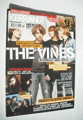 <!--2004-03-06-->Kerrang magazine - The Vines cover (6 March 2004 - Issue 9