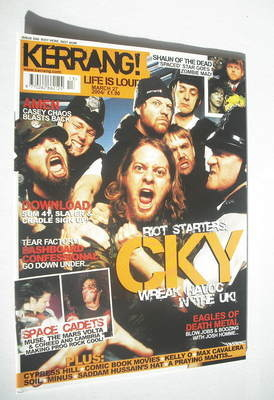 <!--2004-03-27-->Kerrang magazine - CKY cover (27 March 2004 - Issue 998)