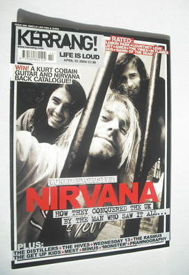 <!--2004-04-03-->Kerrang magazine - Nirvana cover (3 April 2004 - Issue 999