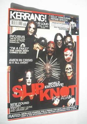 <!--2004-04-17-->Kerrang magazine - Slipknot cover (17 April 2004 - Issue 1