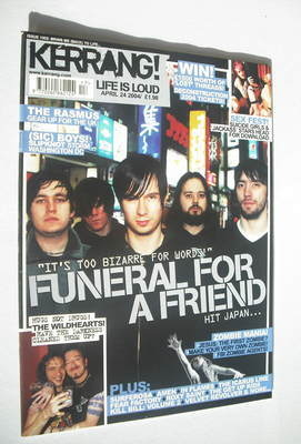 <!--2004-04-24-->Kerrang magazine - Funeral For A Friend cover (24 April 20