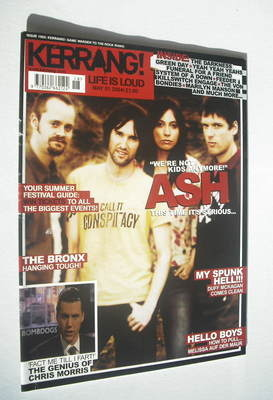 <!--2004-05-01-->Kerrang magazine - Ash cover (1 May 2004 - Issue 1003)