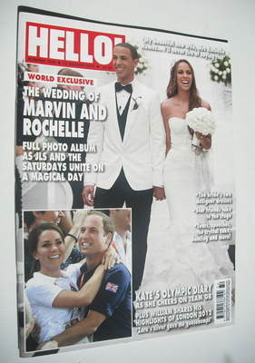 <!--2012-08-13-->Hello! magazine - Marvin Humes and Rochelle cover (13 Augu