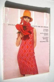 French Elle magazine - 17 June 1965 - Jean Shrimpton cover