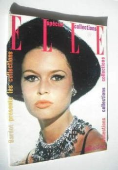 French Elle magazine - 1 September 1961 - Brigitte Bardot cover