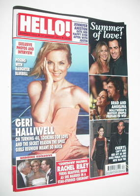 <!--2012-08-27-->Hello! magazine - Geri Halliwell cover (27 August 2012 - I