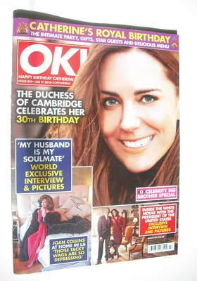 <!--2012-01-17-->OK! magazine - Kate Middleton cover (17 January 2012 - Iss