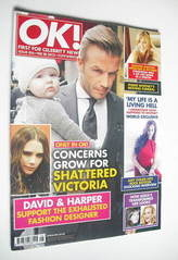 <!--2012-02-28-->OK! magazine - David Beckham cover (28 February 2012 - Iss